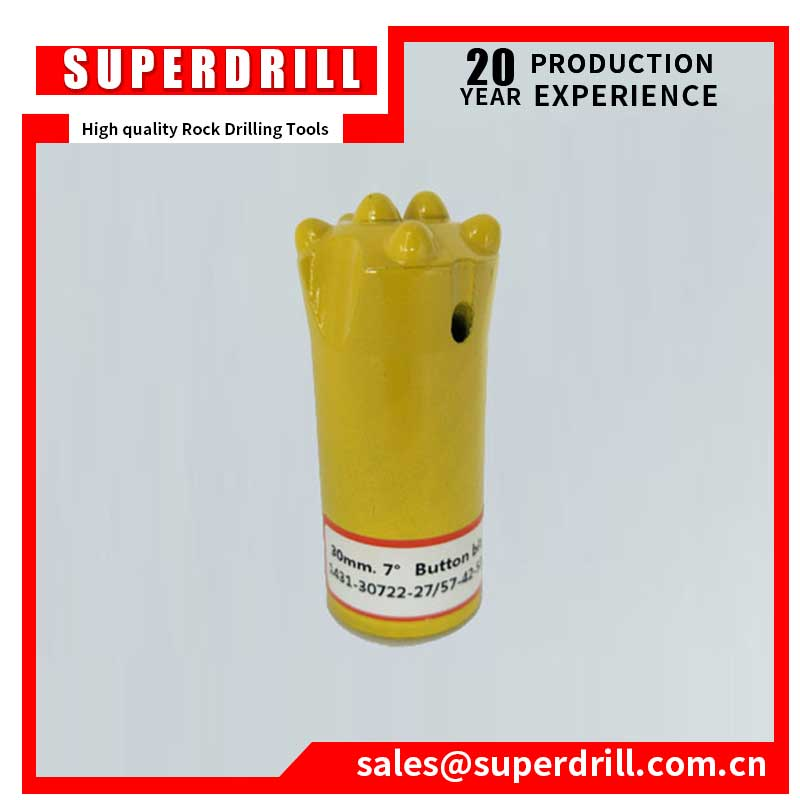 High Quality Taper rock drill 38mm 7 button bits