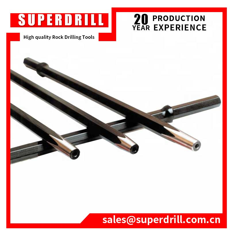 7 Degree Jack Hammer Tungsten Carbide  Rock Drilling Tools Integral Drill Steel Hexagonal  Shank Taper Drill Rod for Mining