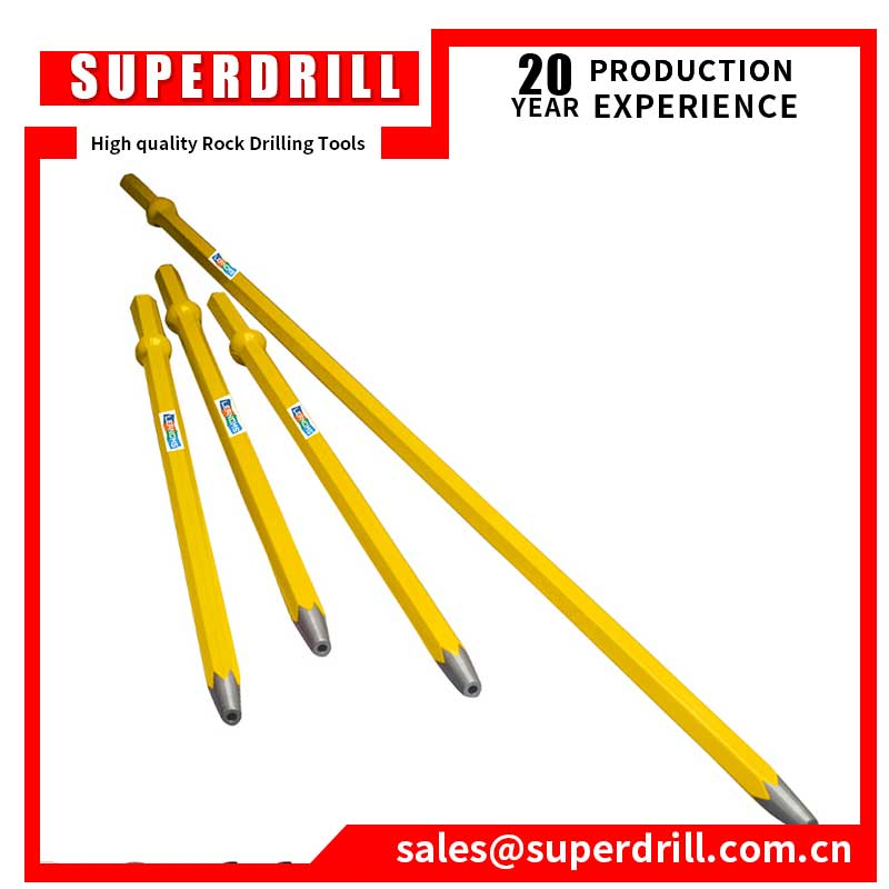 22mm Hex tapered rod hollow drilling rod with shank H22