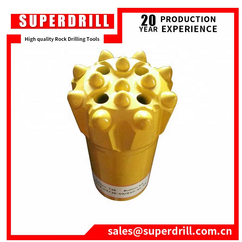 34mm cemented tungsten carbide taper button drill bits for hard rock drilling
